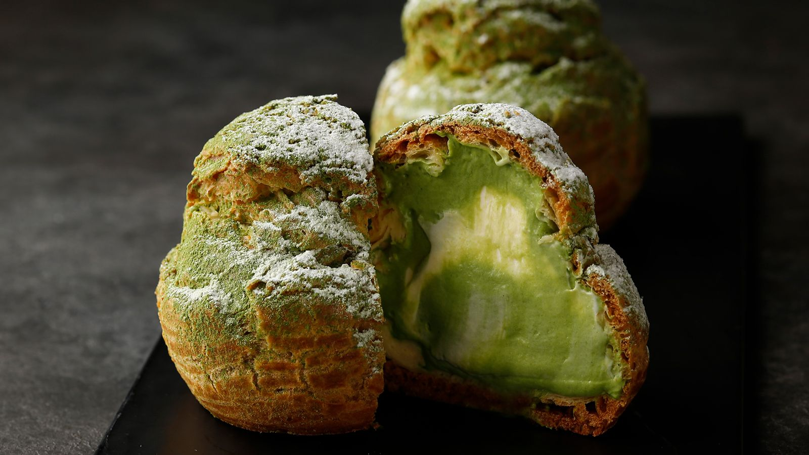 Maccha Green Tea Cream Puffs